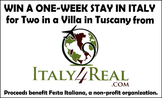 Italy4Real raffle banner