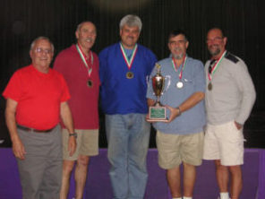 Bocce winners 2005, with official, photo