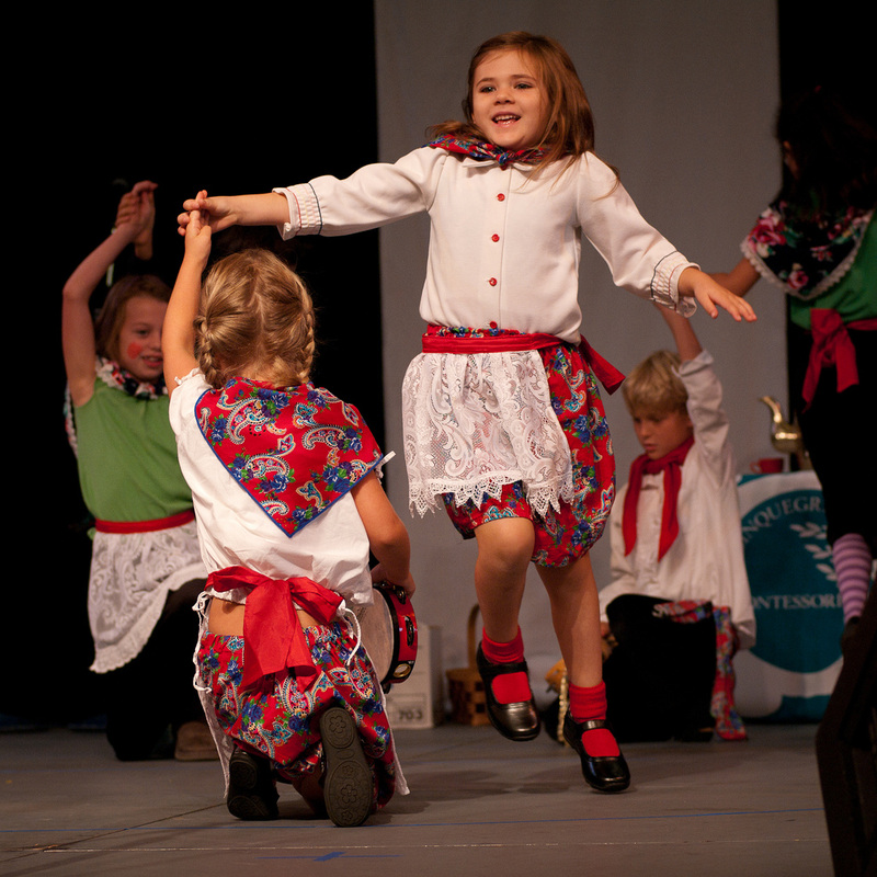 Folk dancing children photo