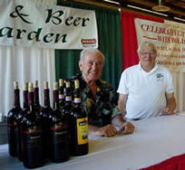 Volunteers in Wine and Beer Garden