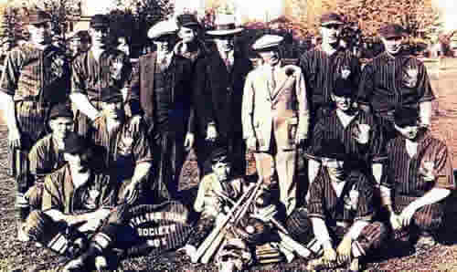 Photo of Italian Independent Society Baseball Team