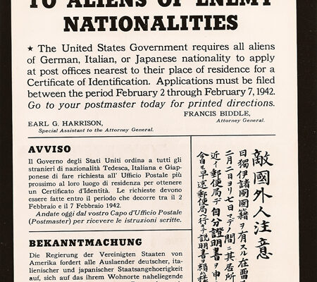 Notice requiring some USA immigrants to register with the government