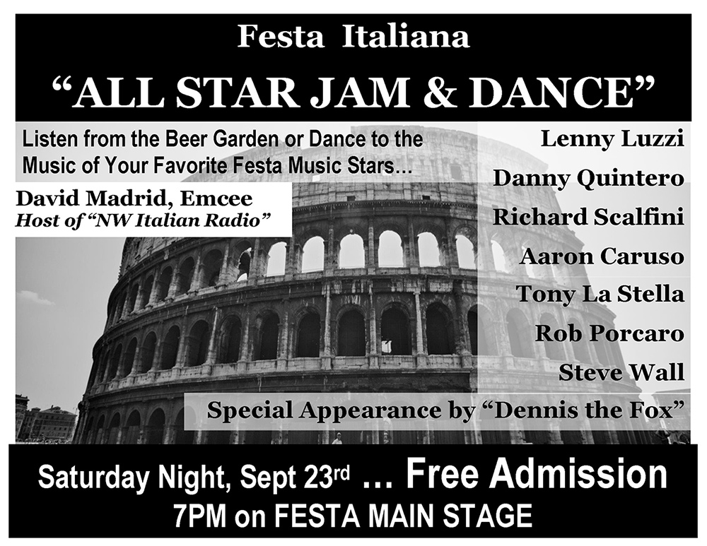 Festa All-Star Jam, handbill design