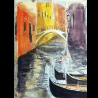 Gondolas in Venice by Karen Walsh, 2013