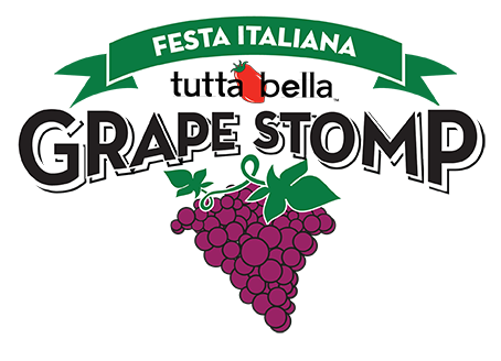 Tutta Bella Grape Stomp t-shirt logo design