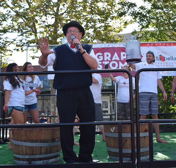 Festa 2018 Grape Stomp with Bob Bailey III and the Tutta Bella team