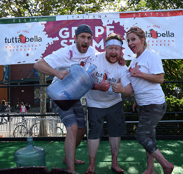 Festa 2018 Grape Stomp with the Tutta Bella team