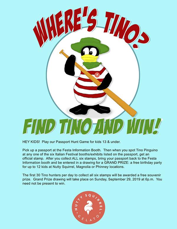 Where's Tino flyer 2019