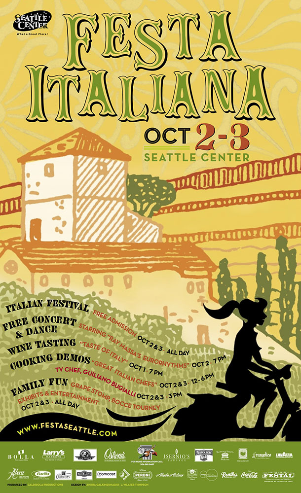 Poster design, Festa Italiana Seattle 2004