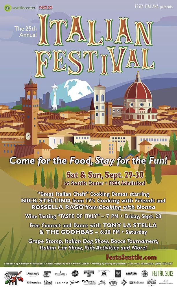 Poster design, Festa Italiana Seattle 2012