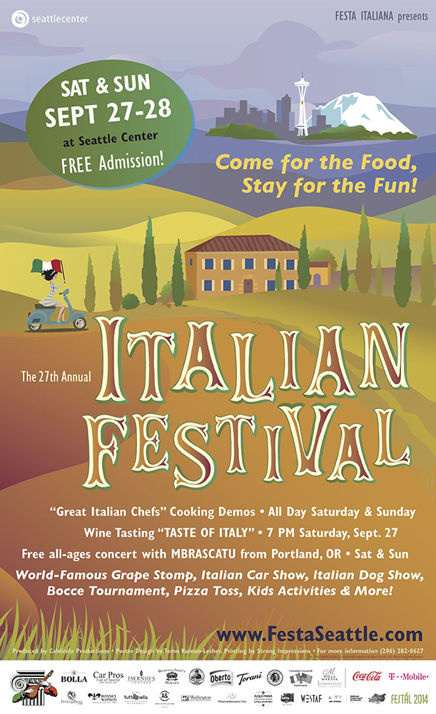 Poster design, Festa Italiana Seattle 2014